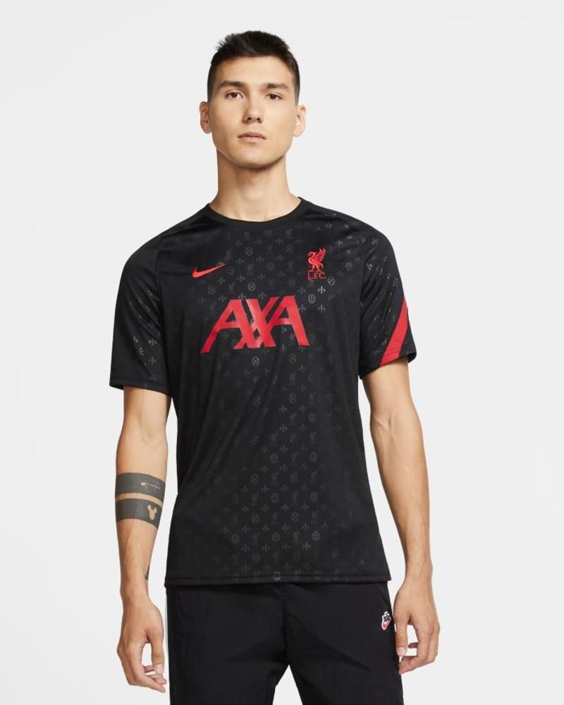Liverpool Fc Nike Maglia Allenamento Training UOMO Nero pre match Dry Top 0