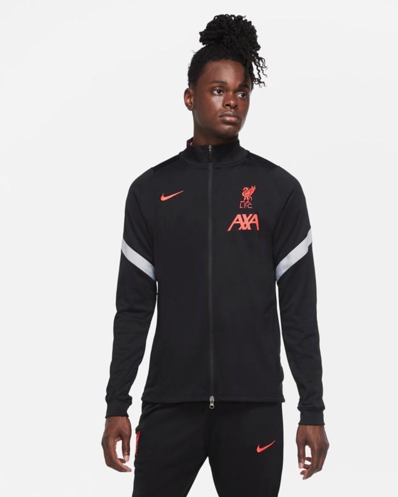 Liverpool Fc Nike Giacca Tuta Jacket UOMO Nero poliestere 2021 Dry Squad knit 0