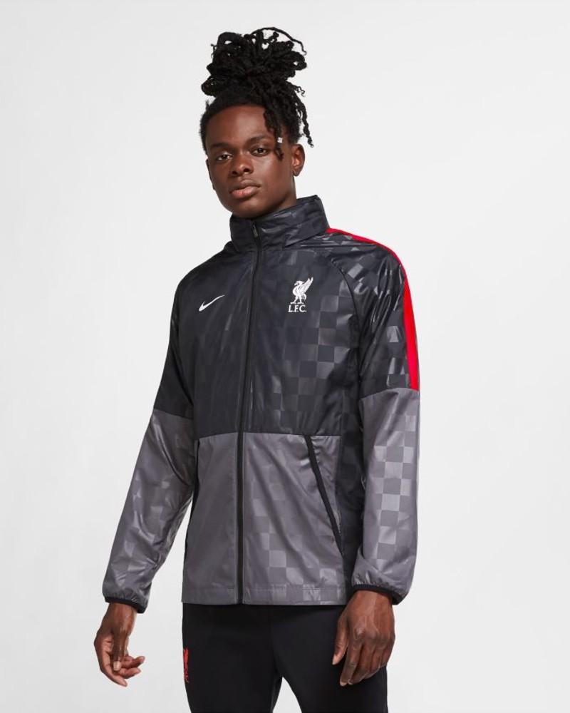 Liverpool Fc Nike AWF Giacca anti Vento Pioggia UOMO Grigio 2020 21 0
