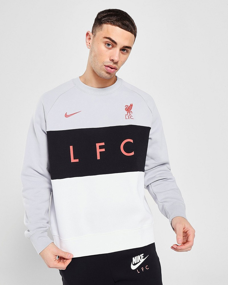 Liverpool Fc Nike Felpa sportiva girocollo pullover 2021 UOMO nsw air flc bb 0
