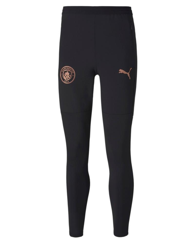 Manchester City Puma Pantaloni tuta Pants UOMO con TASCHE a ZIP Nero 2020 21
