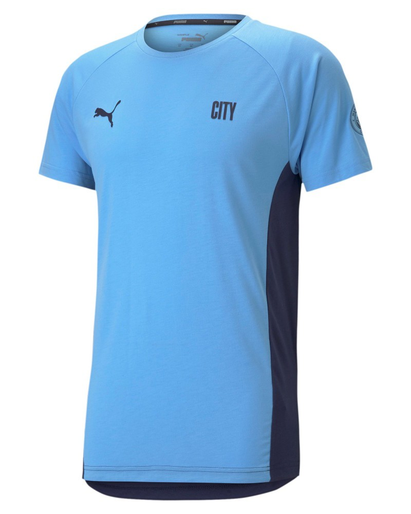 Manchester City Puma Maglia Maglietta T-Shirt maniche corte Evostripe UOMO 2021