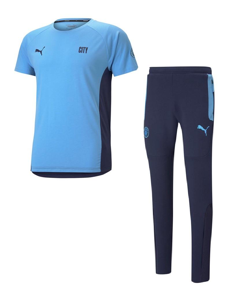 Manchester City Puma Tuta Intera Allenamento Training UOMO Blu 2021 0