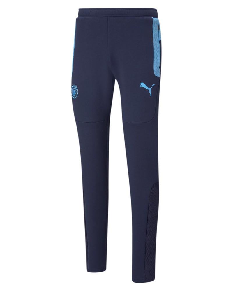 Manchester City Puma Pantaloni tuta Pants UOMO Cotone Blue 2021 Evostripe