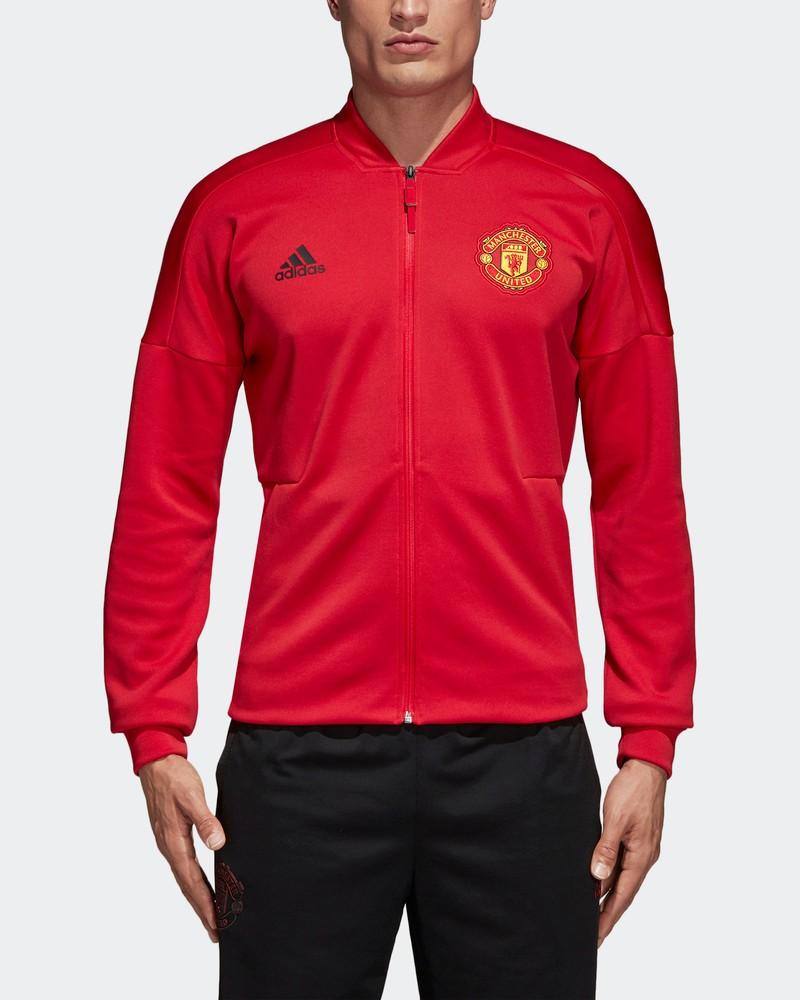 Manchester United Adidas Giacca Pre Gara Pre match jacket Rosso Anthem Zone 0