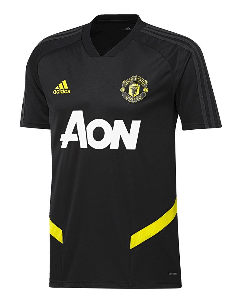 Manchester United Adidas Maglia Allenamento Training 2019 20 maniche corte Nero 0