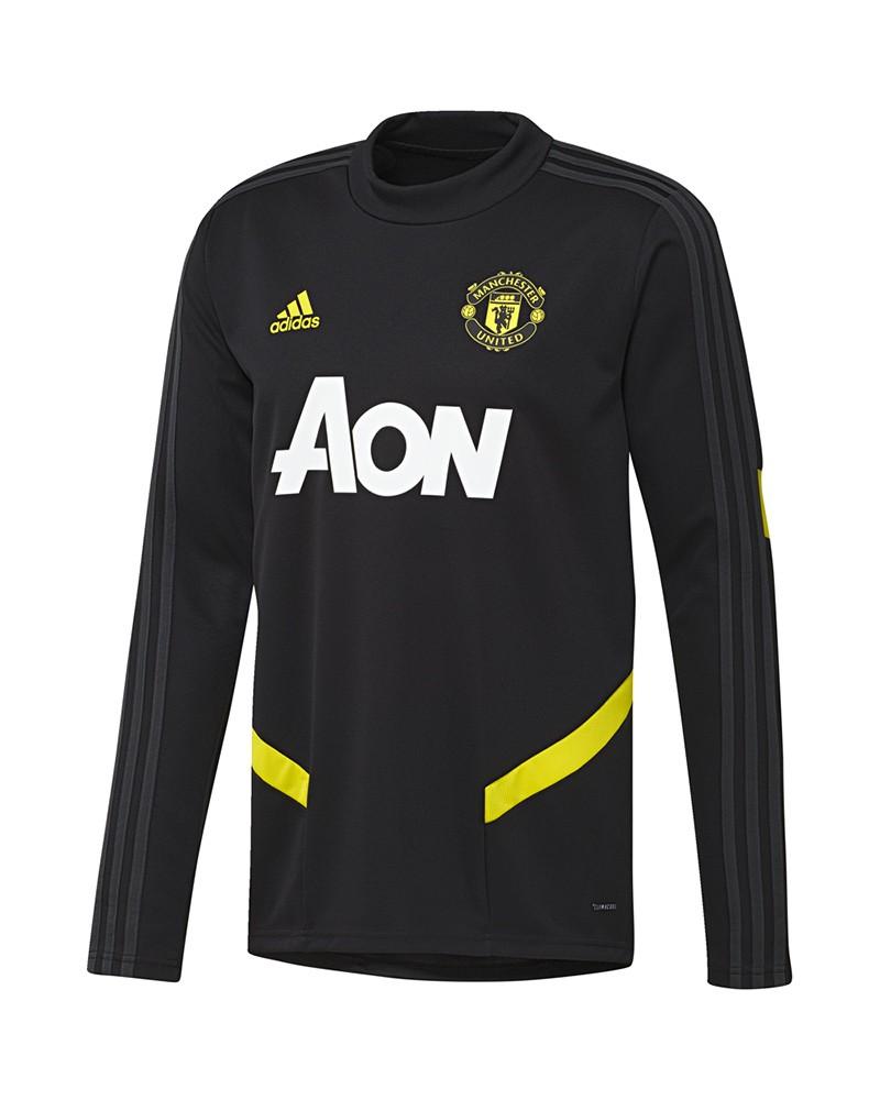 Manchester United Adidas Felpa Allenamento Sweatshirt Nero Uomo 2019 20 0