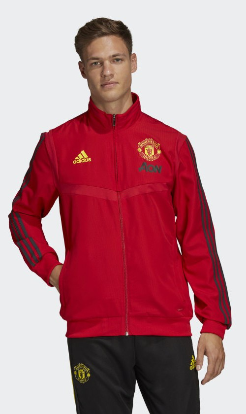 Manchester United Adidas Giacca Tuta Rappresentanza Jacket 2020 Presentation 0