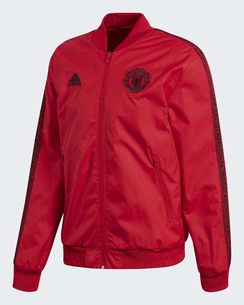 Manchester United Adidas Giacca Pre Gara Pre Match Jacket 2019 20 Anthem Rosso 0