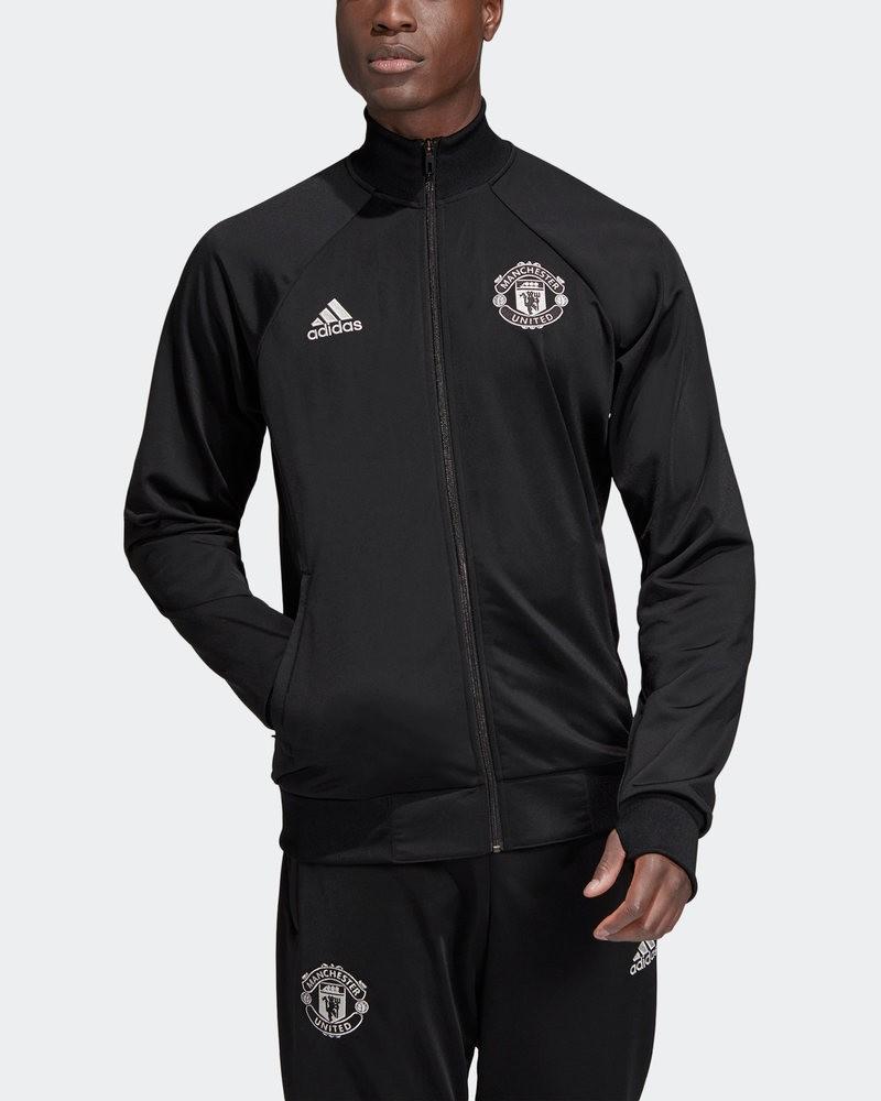 Manchester United Adidas Giacca sportiva Jacket Nero Licensed Icons 2019 20 0