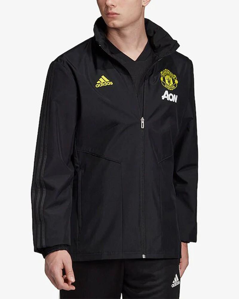 Manchester United Adidas Giacca Vento Pioggia All weather Uomo Nero 2019 20 0