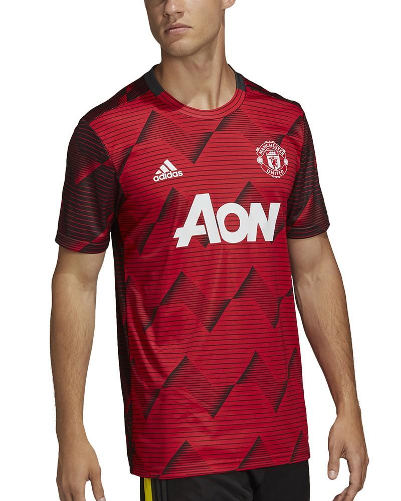 Manchester United Adidas Maglia Allenamento Training Pre match Rosso 2020 0