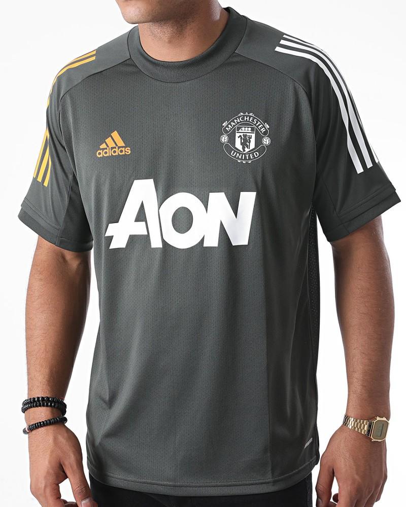 Manchester United Adidas Maglia Allenamento Training UOMO 2020 21 Grigio 0