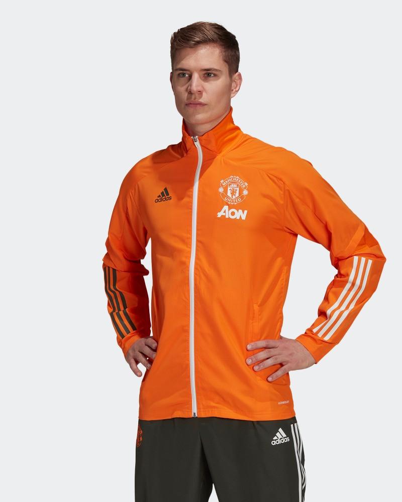 Manchester United Adidas Giacca Rappresentanza Calcio Arancione 2021 pres 0