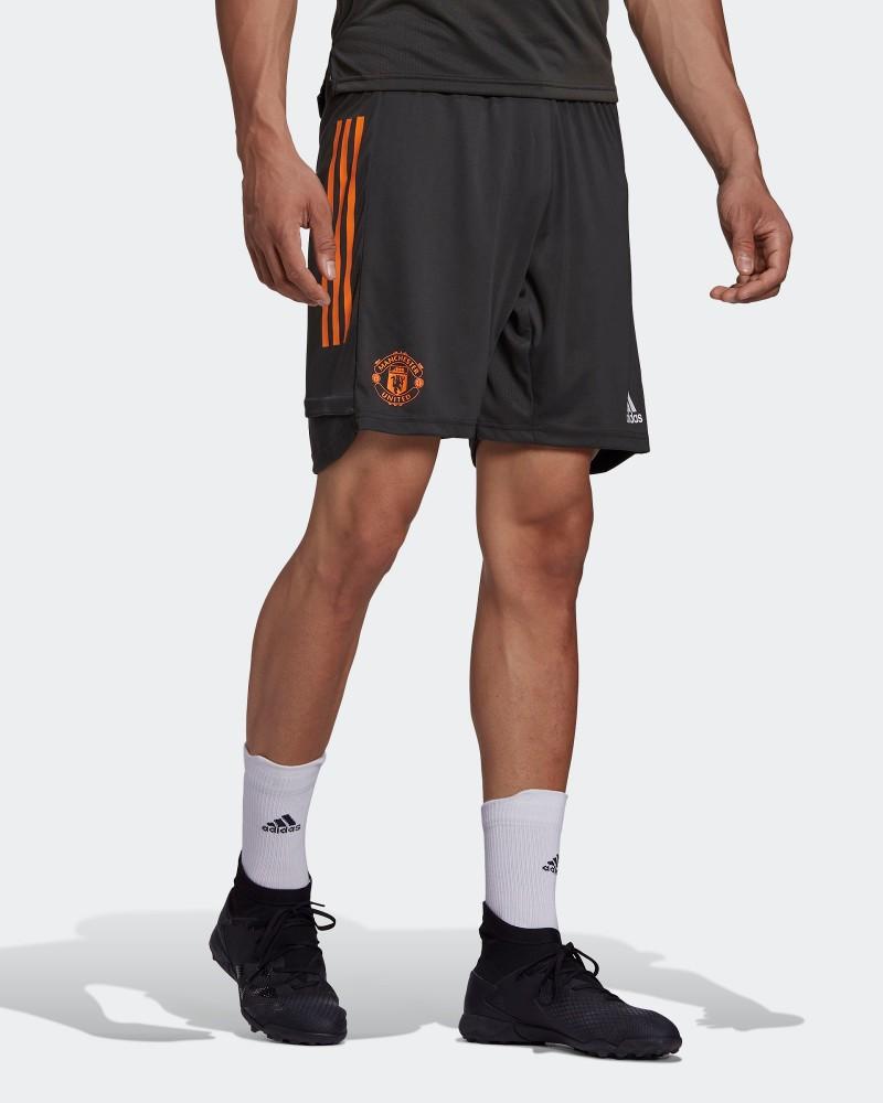 Manchester United Adidas Pantaloncini Shorts Training UOMO Grigio AEROREADY 0