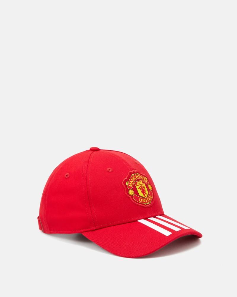 Manchester United Adidas Cappello Berretto UOMO 2020 21 Rosso Cotone 0