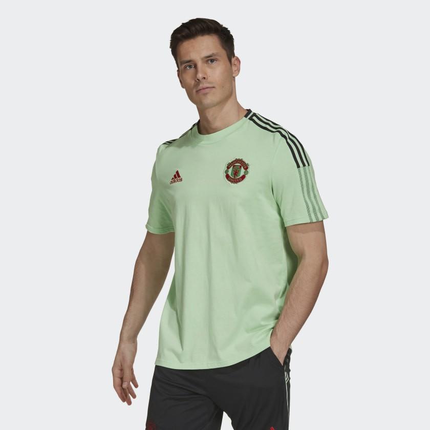 Manchester United Adidas Maglia Allenamento Training UOMO Verde Cotone Tee 2021 0