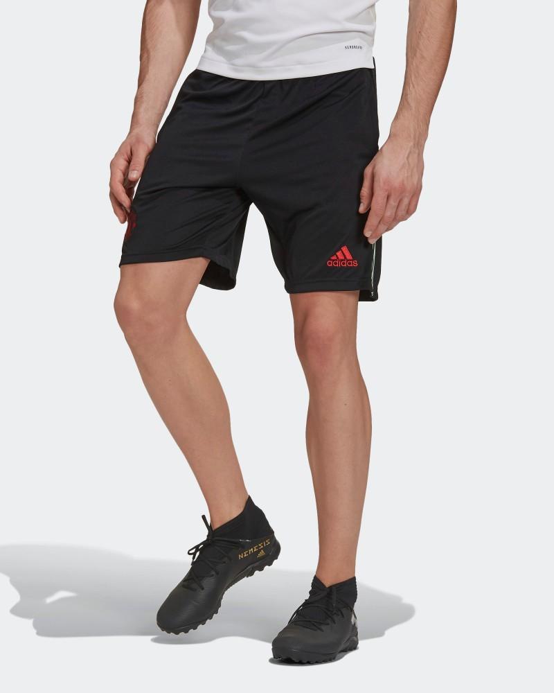 Manchester United Adidas Pantaloncini Shorts Training UOMO Nero 2021 AEROREADY 0