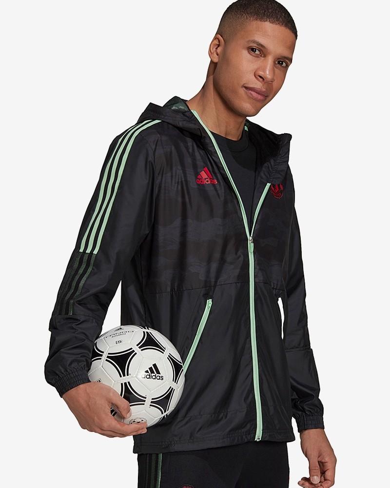Manchester United Adidas Giacca Vento pioggia Cappuccio UOMO 2021 WINDBREAKER 0