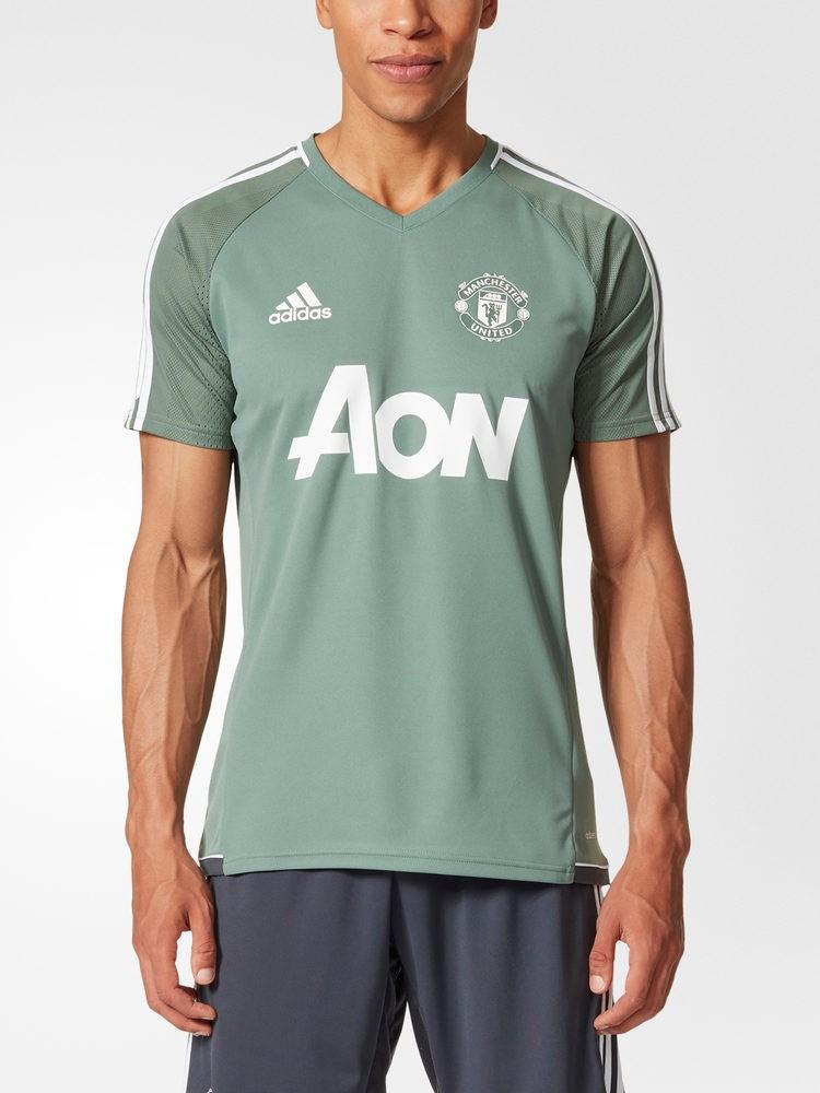 Manchester United Adidas Maglia Allenamento Training Verde Adizero 2017 18 0