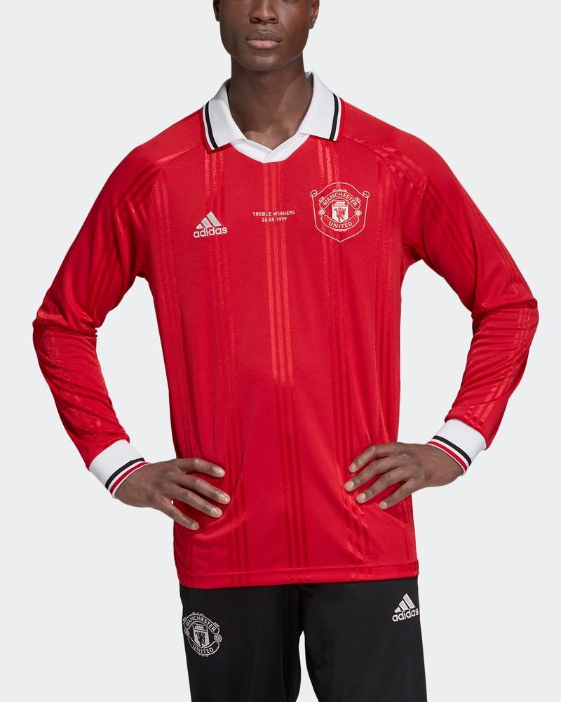 Manchester United Adidas Maglia Calcio Uomo maniche lunghe Icons Vintage 0