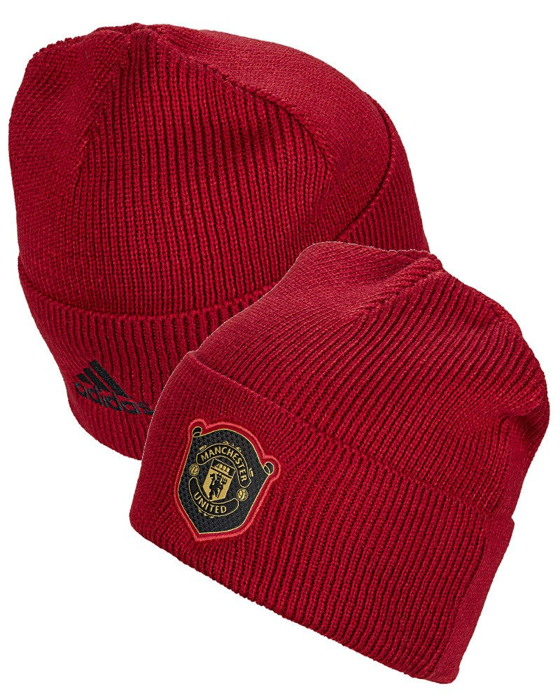Manchester United Adidas Cappello lana invernale WOOLIE cuffia tg 2019 20 Rosso 0