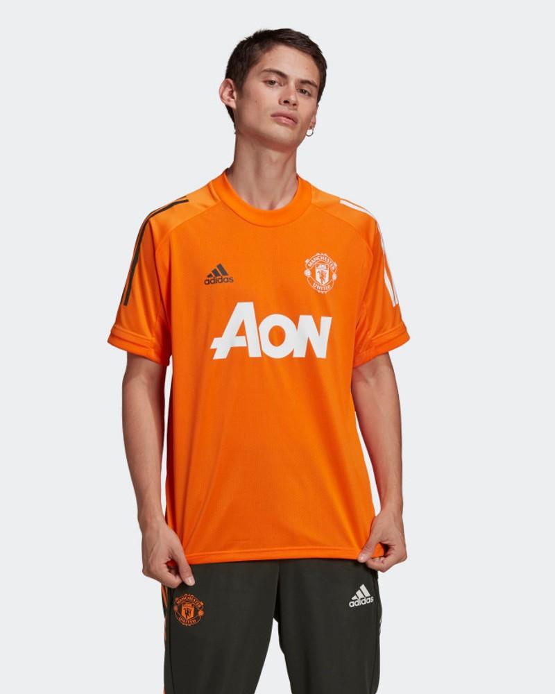 Manchester United MUFC Adidas Maglia Allenamento Training UOMO Arancione 2021 0
