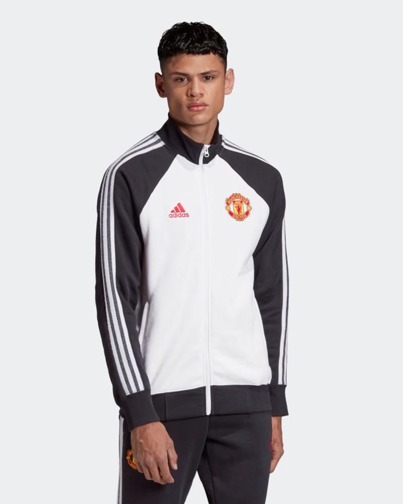 Manchester United Adidas Giacca Tuta Sportiva UOMO Cotone Bianco 2020 21 0