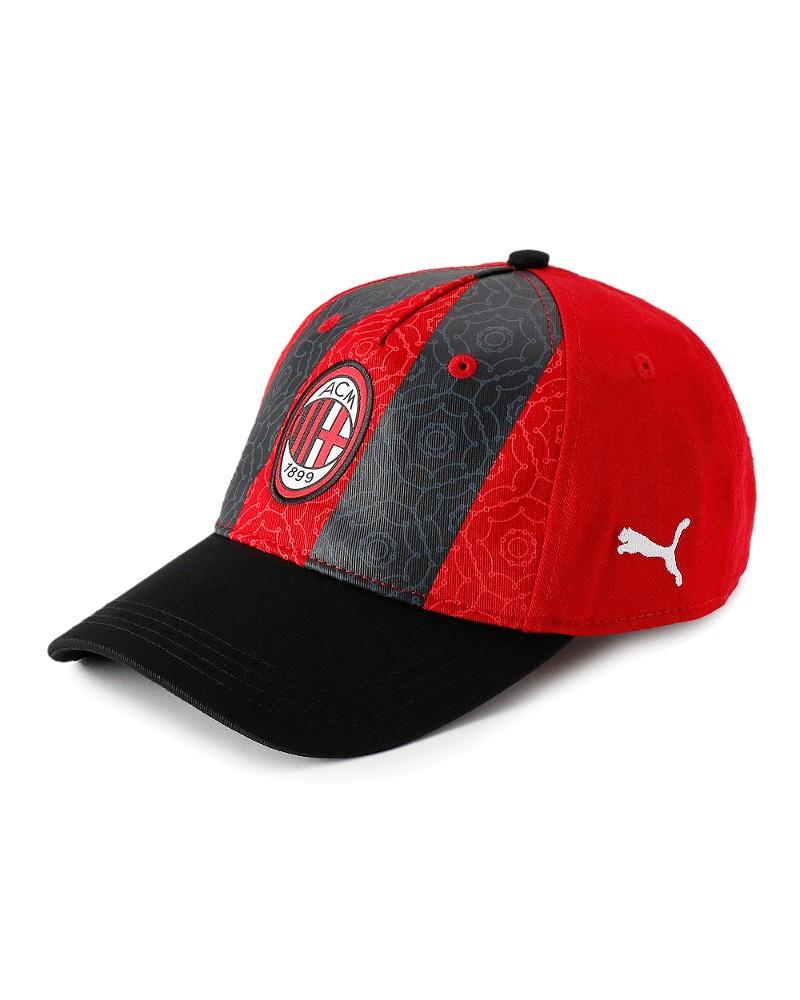Ac Milan Puma Cappello Berretto Unisex Nero baseball Core Cotone 2020 21 0