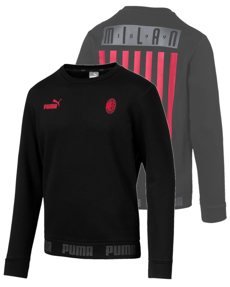 Ac Milan Puma FTBL CULTURE SWEATER Nero Culture Sweatr Crew 2020 Uomo 0