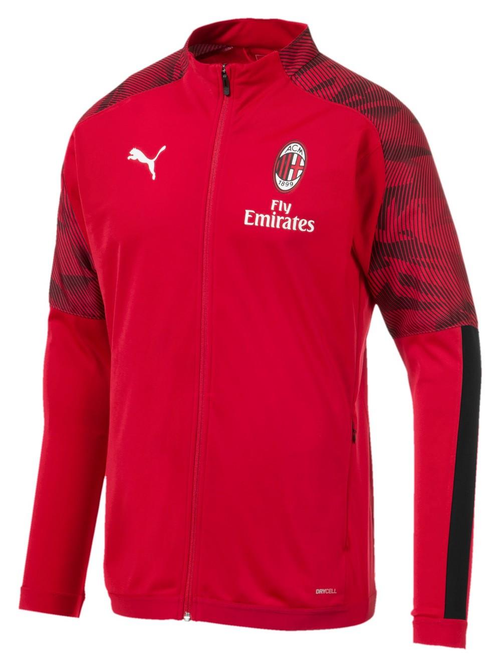 Ac Milan Puma Giacca Tuta Jacket Rosso Versione panchina 2019 20 0