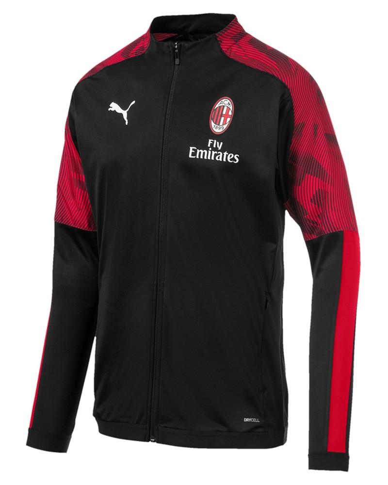 Ac Milan Puma Giacca Tuta Jacket 2019 20 Uomo Nero Versione panchina 0