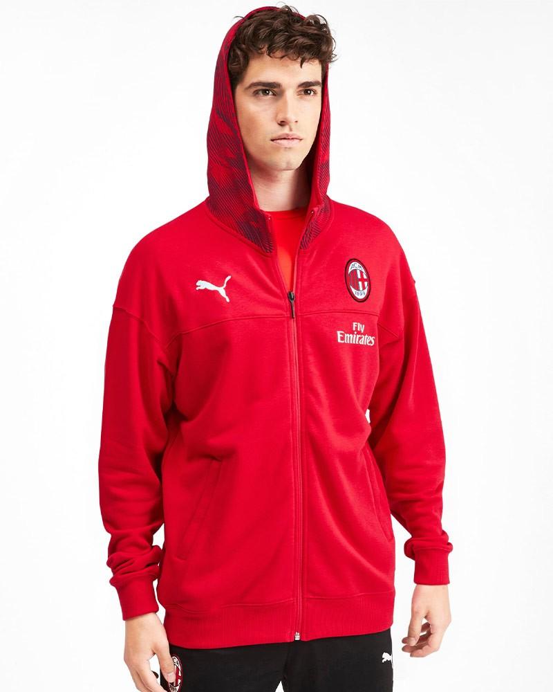 Ac Milan Puma Giacca sportiva sport Jacket 2019 20 Casual HD FZ Rosso Cotone 0