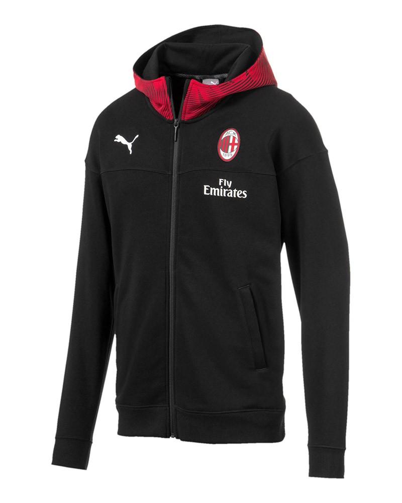 Ac Milan Puma Giacca Sportiva Sport Jacket Casual HD FZ Nero 2019 20 Cotone 0