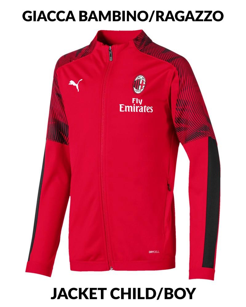 Ac Milan Puma Giacca Tuta Training Jacket 2019 20 Bambino Ragazzo Rosso 0