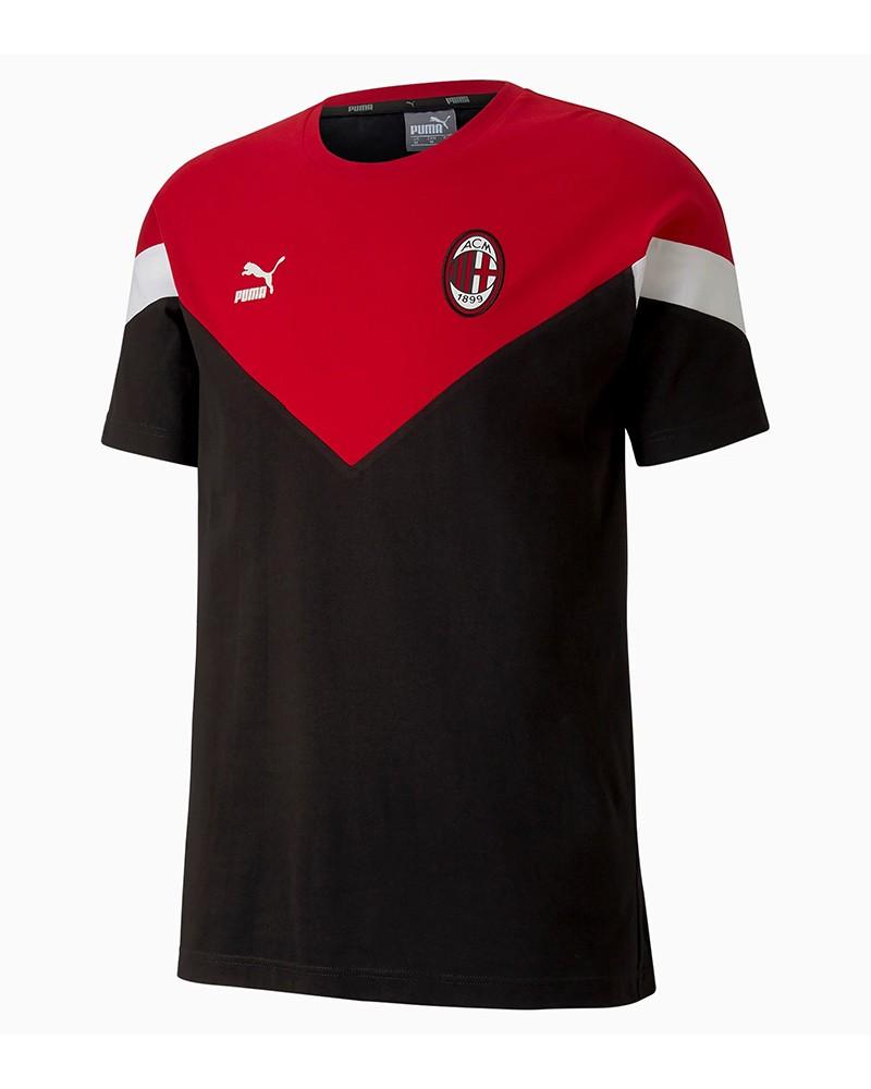 Ac Milan Puma Icons MCS T-shirt Magleitta maglia tempo libero 2020 Uomo Nero 0