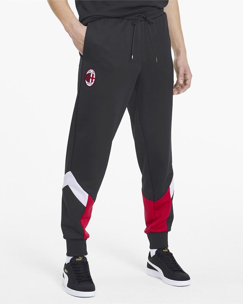 Ac Milan Puma Pantaloni tuta Pants 2020 Nero Uomo Iconic MCS Cuff Sweat Cotone 0