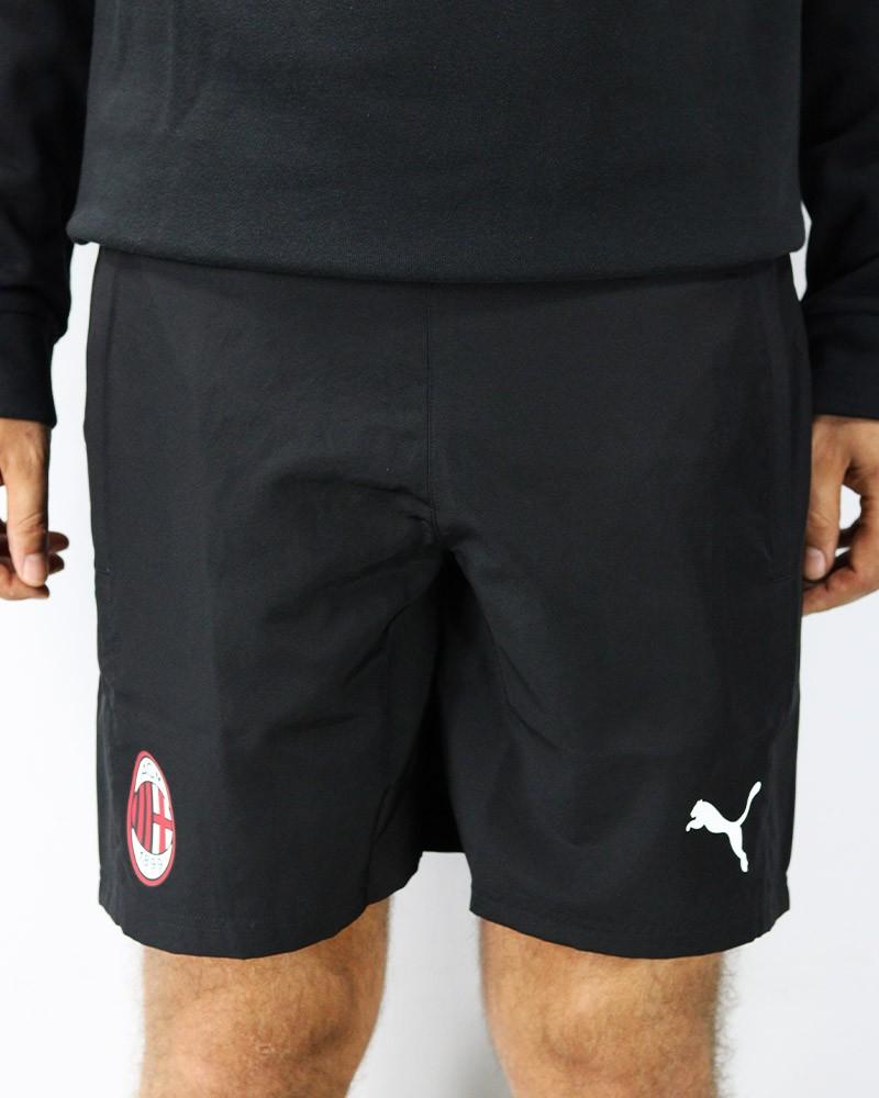Ac Milan Puma Pantaloncini Shorts Woven Uomo Nero con TASCHE 2019 20 0