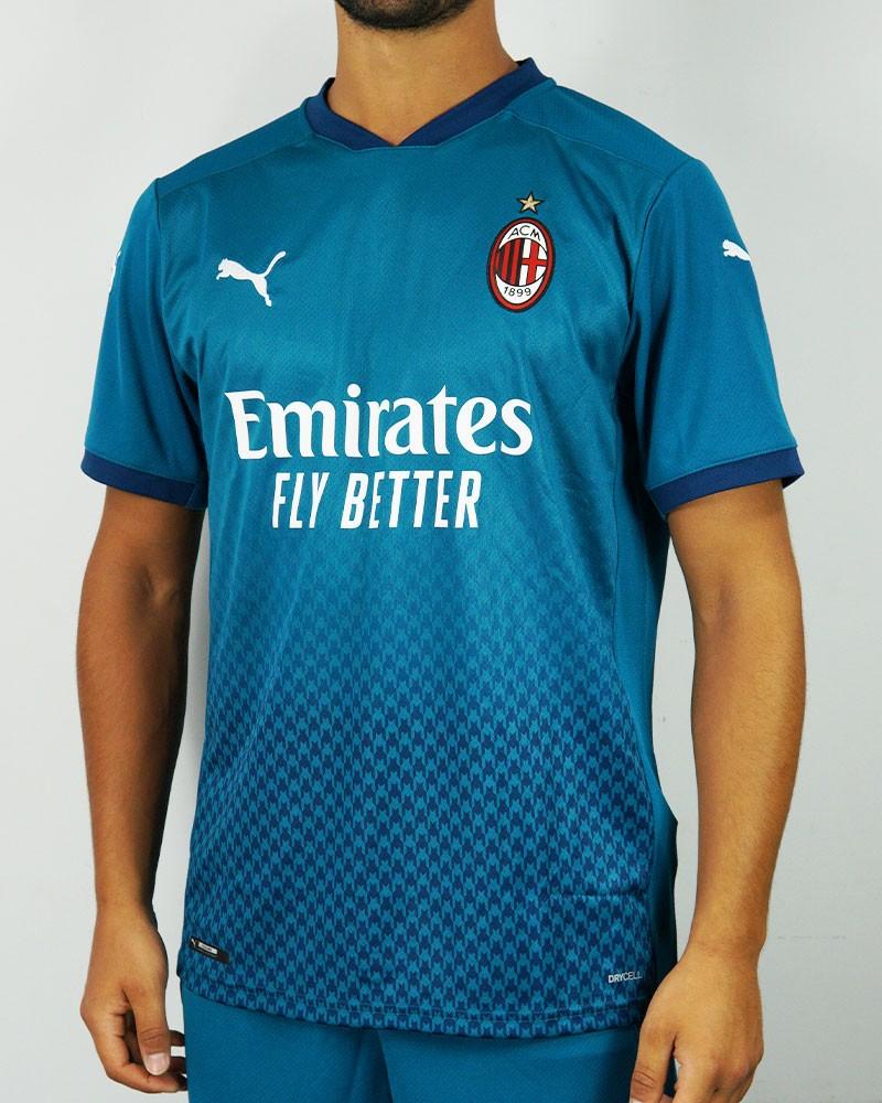 Ac Milan Puma Maglia Calcio Blu 2020 21 Third UOMO 100% poliestere Drycell 0