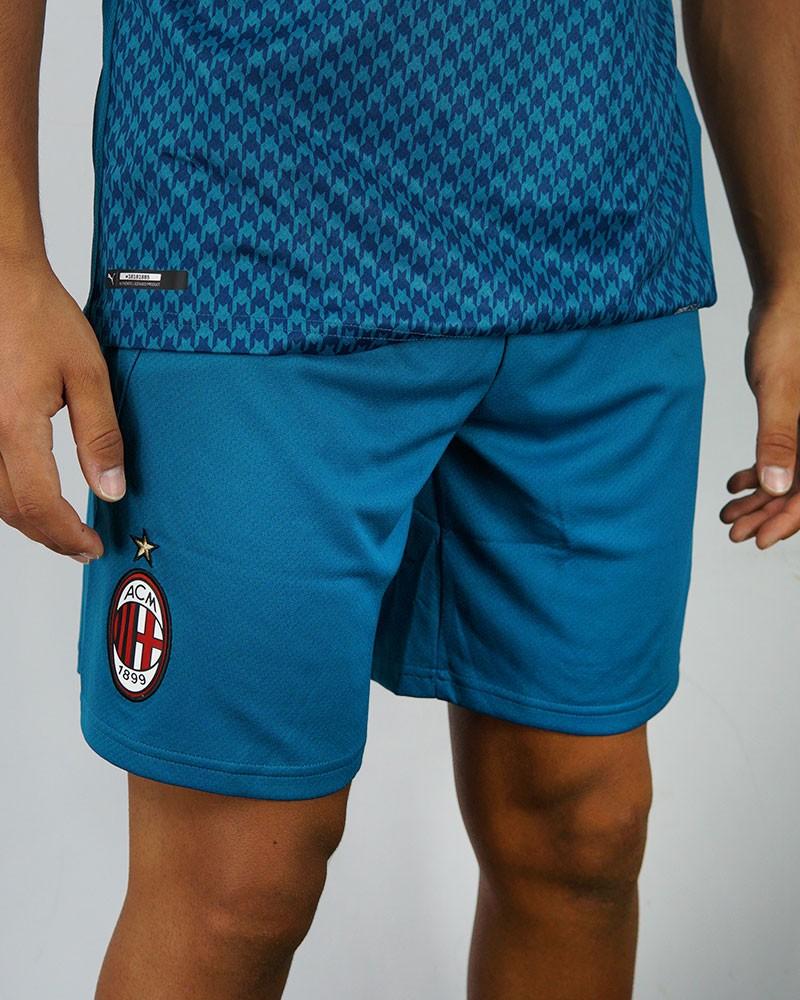 Ac Milan Puma Pantaloncini calcio Shorts Third Match UOMO Blu 2020 21 0