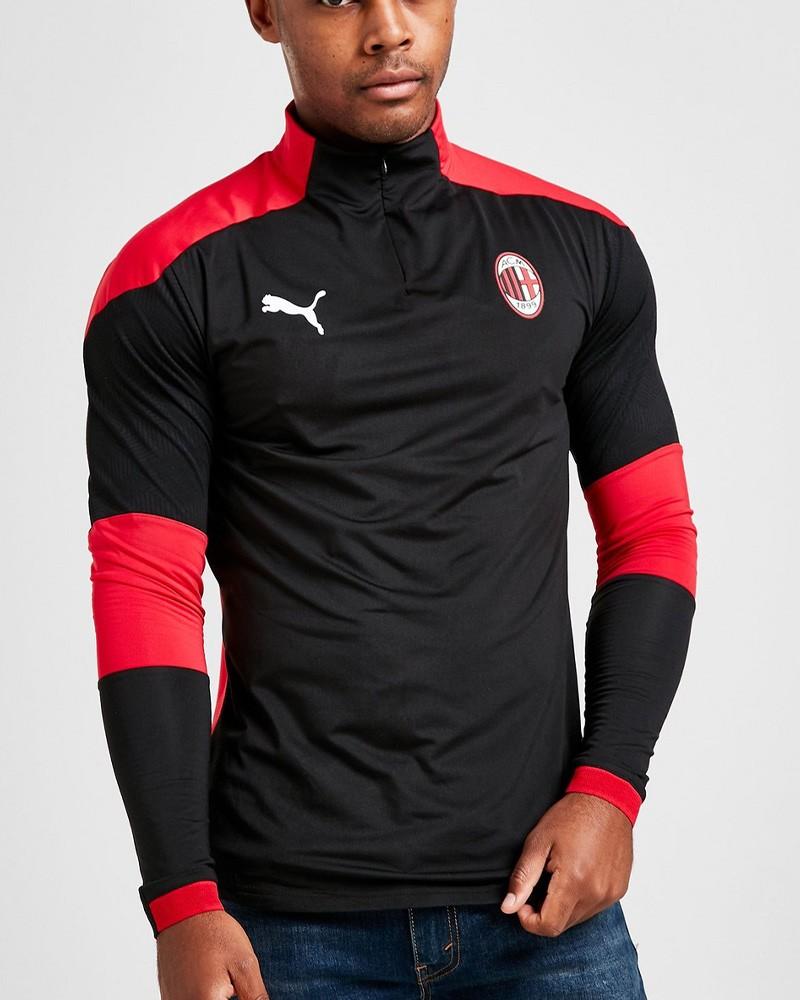 Ac Milan Puma Felpa Allenamento Training Sweatshirt UOMO Nero 2020 21 0
