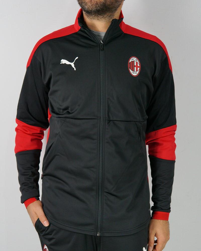 Ac Milan Puma Giacca Tuta Allenamento Jacket Poly Versione panchina UOMO Nero 0