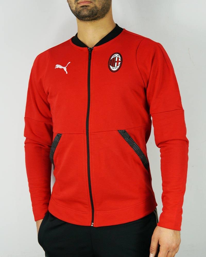 Ac Milan Puma Giacca tuta sportiva UOMO Rosso Cotone 2020 21 CASUAL FZ 0