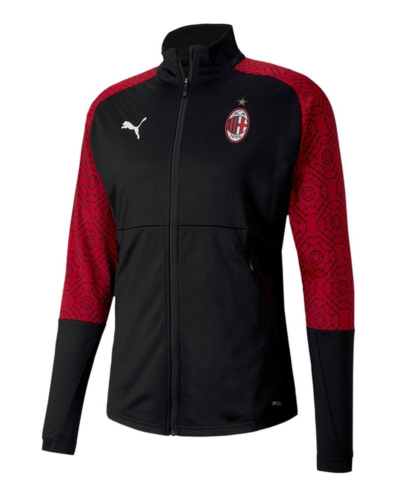 Ac Milan Puma Giacca Tuta pre gara 2020 21 UOMO Nero Stadium Home 0