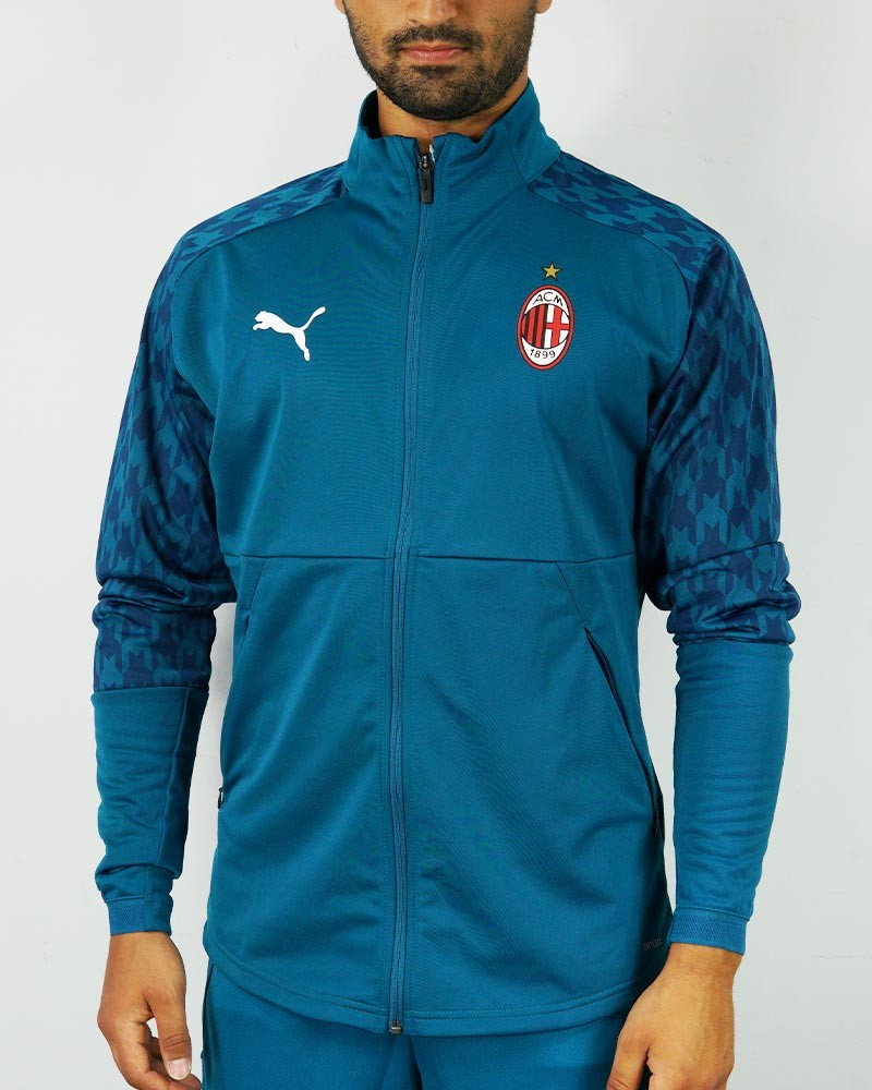 Ac Milan Puma Giacca tuta pre match UOMO Blu Poliestere 2020 21 Stadium Third 0