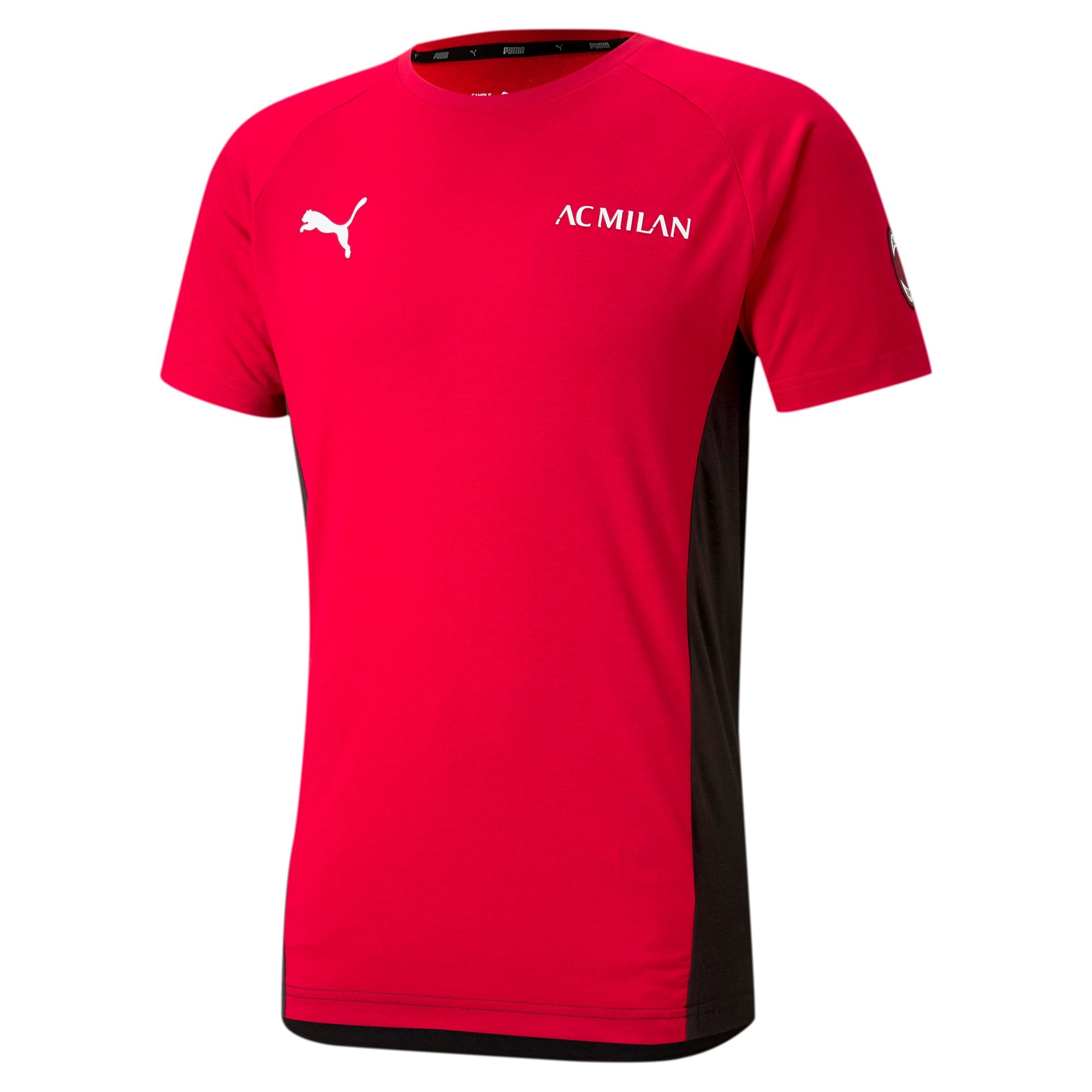 Ac Milan Puma Maglia Maglietta T-Shirt UOMO DryCell Rosso Evostripe Tee 2021 0