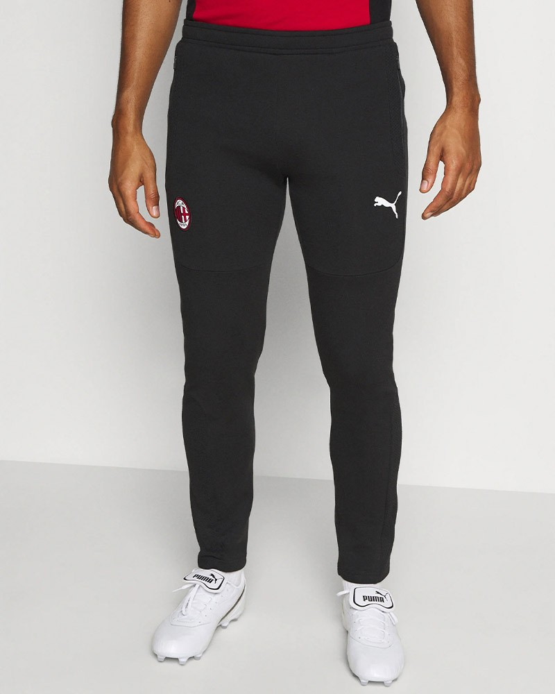 Ac Milan Puma Pantaloni tuta Pants 2021 Nero Cotone Evostripe 0