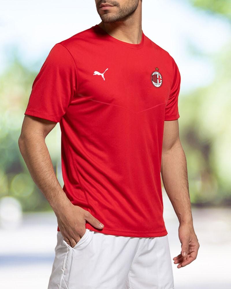 Ac Milan Puma Maglia Allenamento Training Pre match Stadium WARM UP UOMO Rosso 0