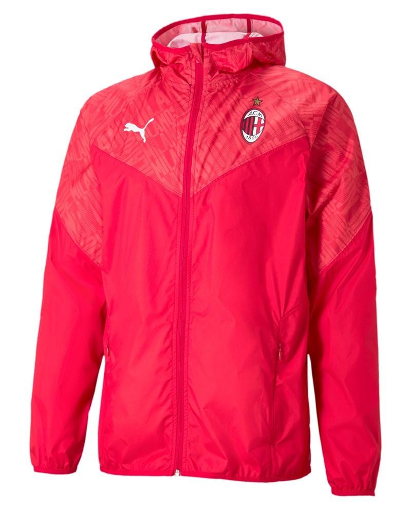Ac Milan Puma Giacca Vento Warmup stadium pre match UOMO Rosso 2021 0