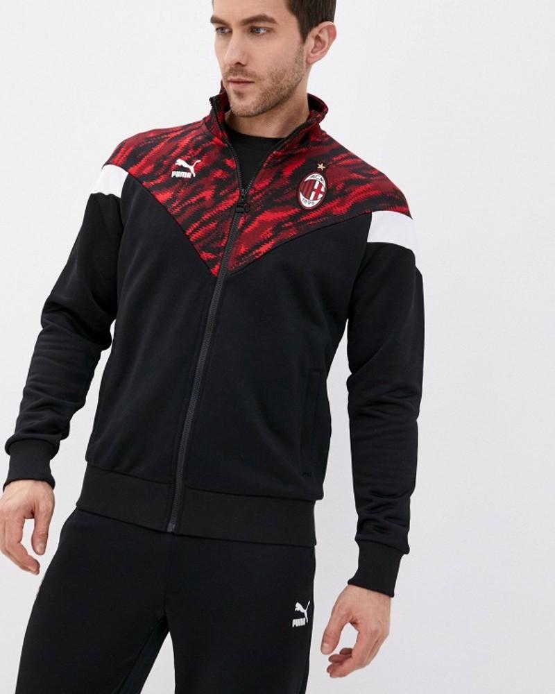 Ac Milan Puma Giacca tuta sportiva Iconic MCS Graphic UOMO Rosso Nero Cotone 0